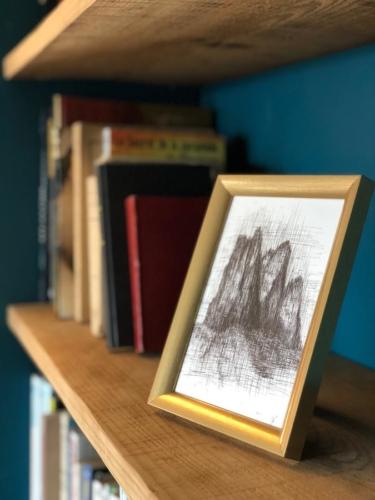 cadre photo dans salon