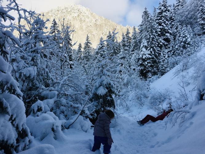 circuit des cascades et neige