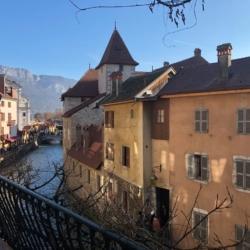vue sur le Thiou Annecy