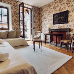 chambre avec 2 lits simples le rousseau